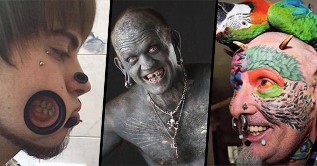 9 przykładów ekstremalnych modyfikacji ciała. Straszne, obrzydliwe czy piękne?