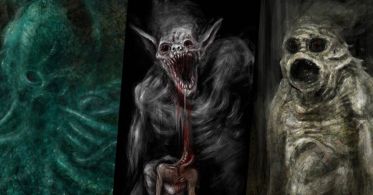 Przerażające potwory z mitologii Cthulhu