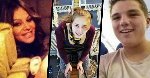 10 selfie wykonanych zaraz przed śmiercią